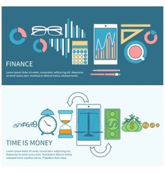 Time is money and finance concept vector