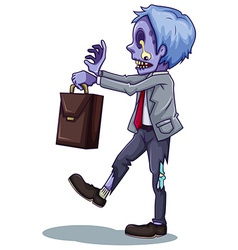 An office worker zombie vector