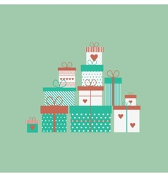 Card with gift boxes vector