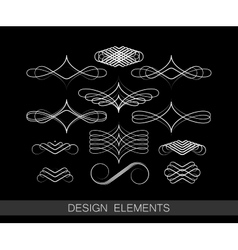 Set of line art decorative elements for vector