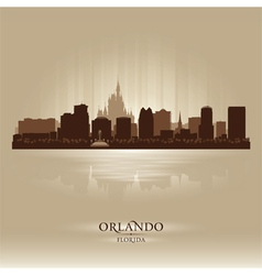 Orlando florida skyline city silhouette vector