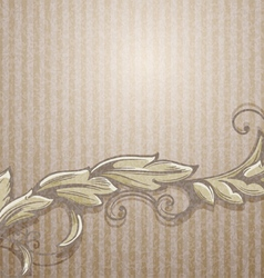 Vintage background with branch vector