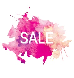 Sale watercolor vector