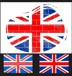 Shabby flag of great britain vector