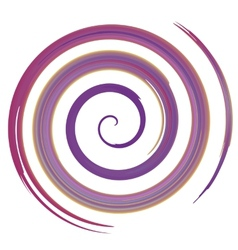 Purple watercolor spiral vector