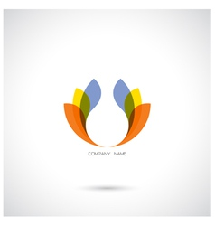 Creative abstract logo design template vector