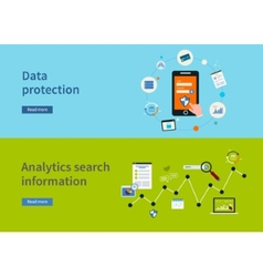 Data protection icons vector