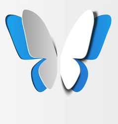 Butterfly paper vector