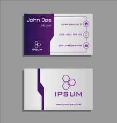 Professional business card - purple and light grey vector