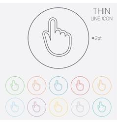 Hand cursor sign icon hand pointer symbol vector