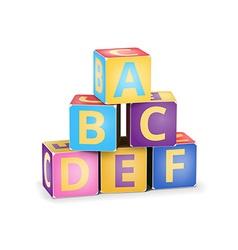 Abc cubes pyramide vector