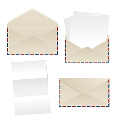 Envelope and paper sheets vector