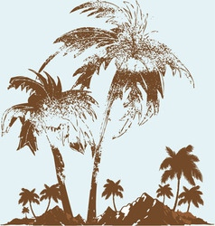 Palm tree vector