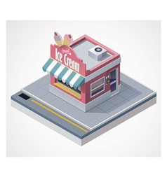 Isometric ice cream store vector