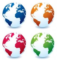 Earth globe variation vector