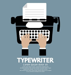Flat design of typewriter the classic typing vector