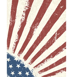 Grunge american flag background vertical vector