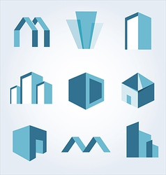 Building real state icons set vector