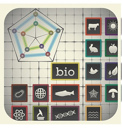 16 infographic elements with graph background vector