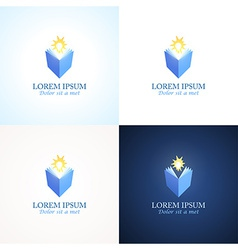 Education logos vector