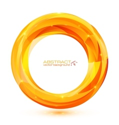 Orange abstract geometry ring vector