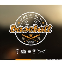 College baseball team emblem vector