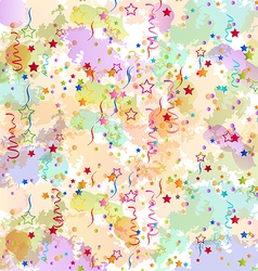 Confetti holiday background grunge colorful vector