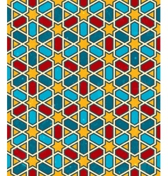 Moroccan geometric pattern seamless background vector