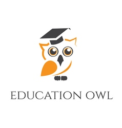 Concept of owl in graduate hat vector