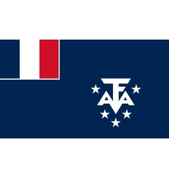 French southern and antarctic lands flag vector