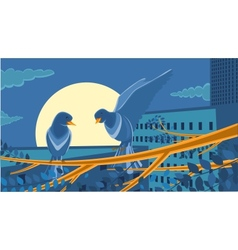 Dawn in the city vector