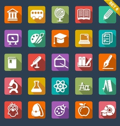 Education icon set- flat design vector