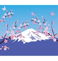 Mountain cherry vector