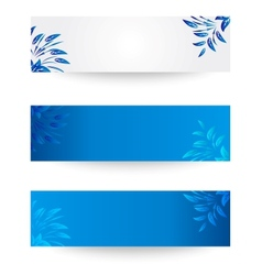 Banner with flowers and leaves vector