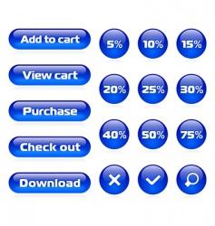 Online shop button set vector