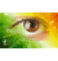 Abstract futuristic background with human eye vector