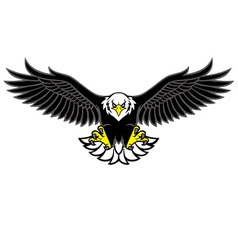 Eagle mascot spread the wings vector