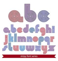 Elegant unusual striped typescript colorful lined vector