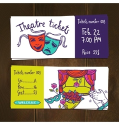 Theater ticket set vector