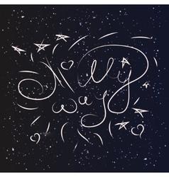 Milky way stars sky vector