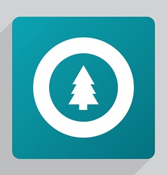 Flat fir-tree icon vector