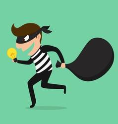 Piracy thief stealing idea vector