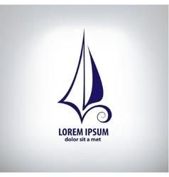 Ship sign corporate logo vector