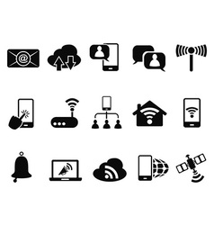 Digital communication icons set vector