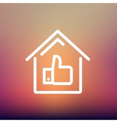 Approved housing loan thin line icon vector