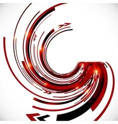 Abstract dark red spiral background vector