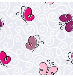 Seamless wallpaper with a butterflies vector
