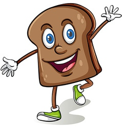 Loaf of bread with a face vector