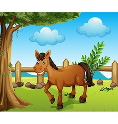 A horse under the tree vector