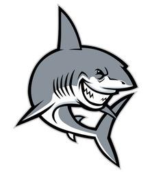 Shark mascot vector